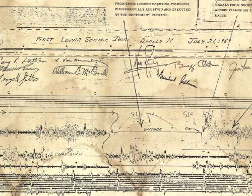 First lunar Seismogram
