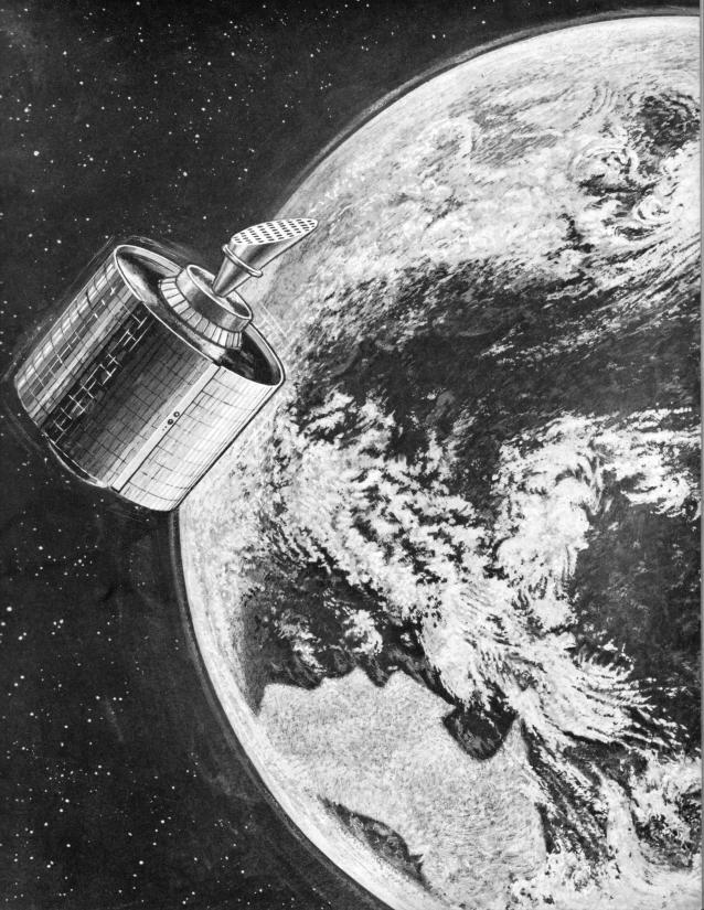 one of the intelsat iii satellites this illustration of an intelsat ...