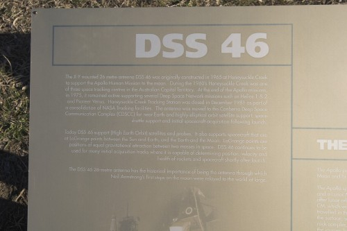 DSS 46 plaque at Tid