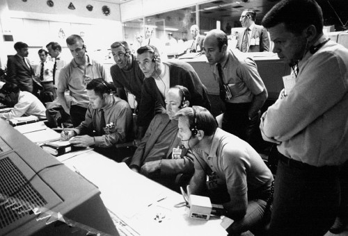 in the MOCR during the Apollo 13 emergency