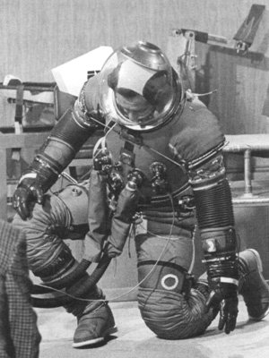 Charlie Duke in spacesuit