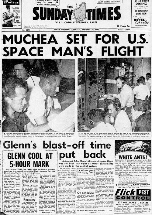 Muchea set for US Space Man's Flight