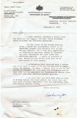 Lewis Wainwright letter