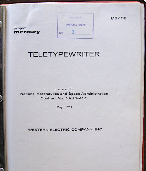 Teletypewriter manual cover