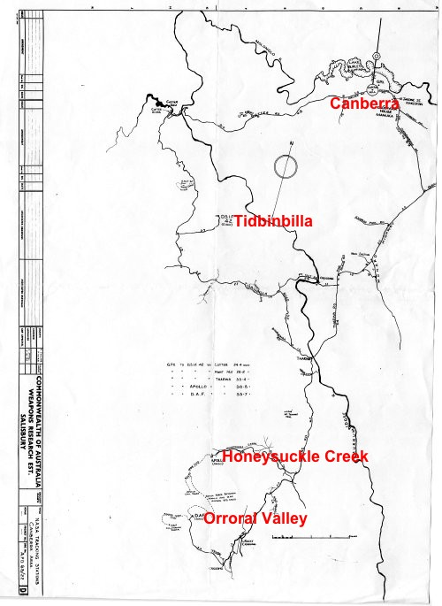 Canberra Tracking Station map 1965