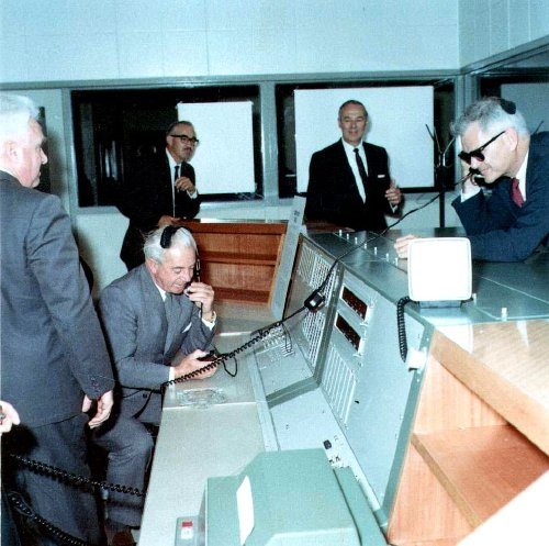 Prime Minister Holt at the Ops Console